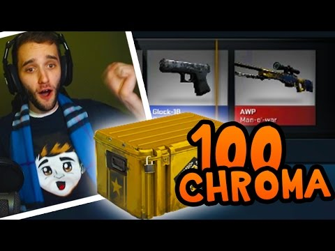 100 Chromas In The Quest For Knife! Case Opening W  Preston And Rob! video