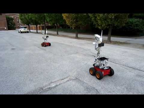 Robotic Follower System using an Active Antenna Tracking – Field Test 3