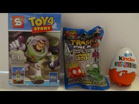 Toys bought in Greece Part 1 - Toy Story, Kinder Egg and Trash Pack