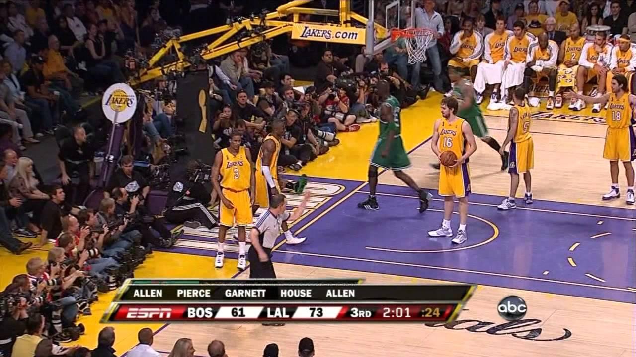 Boston Celtics' amazing 24 point comeback vs Lakers (2008 ...