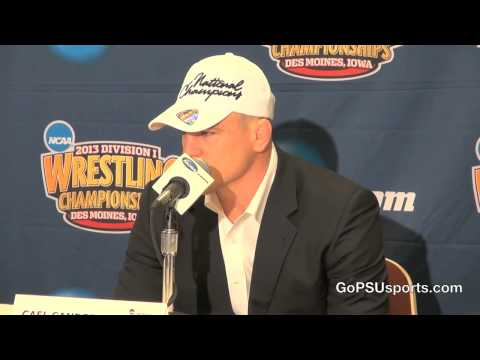 Penn State Wrestling - Cael Sanderson 2013 NCAA Champion Press Conference Image 1