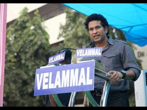 Sachin Tendulkar's Inspiring Speech In Velammal School - Official (hd) video
