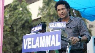 Sachin Tendulkar's Inspiring Speech in Velammal School - Official (HD)
