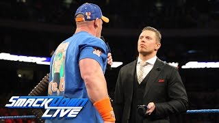 John Cena and The Miz engage in a war of words on Miz TV SmackDown LIVE Feb 28 2017
