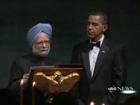 President Obama Host State Dinner with PM Manmohan SINGH White House