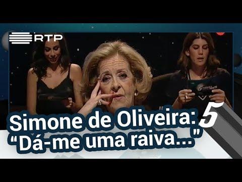 """Simone de Oliveira: """"Dá-me uma raiva…"""" - 5 Para a Meia-Noite"""