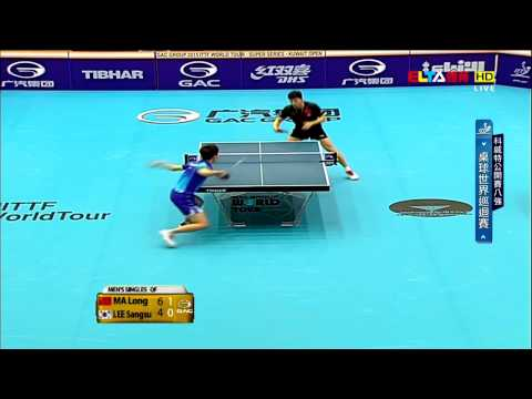 2015 Kuwait Open Ms-QF: MA Long - LEE Sangsu [HD] [Full Match/Chinese]