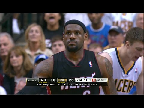 LeBron James Full Highlights 2012 Playoffs ECSF G4 at Pacers - 40 Pts, 18 Rebs, 9 Assists
