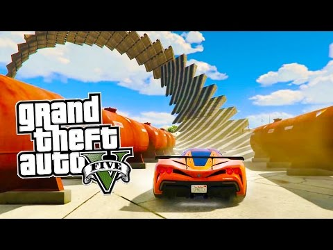 GTA 5 EPIC 360 Inverted Spiral Stunt Race & MORE Awesome GTA 5 Online Jobs! (GTA 5 PS4 Gameplay)
