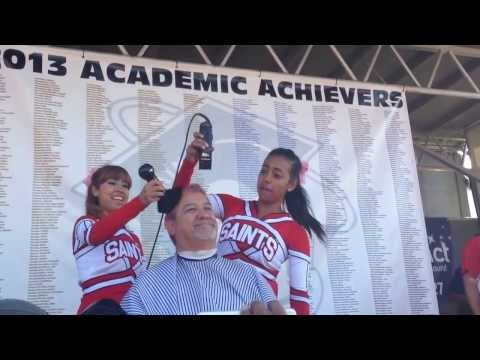 Santa Maria High School administrators shave heads for good scores