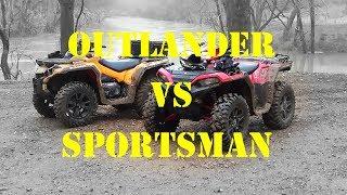 2019 Outlander 1000 VS Sportsman XP1000 | Drag Race | Trail Ride Comparison!