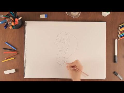 Cómo dibujar una cobra : Aprende a dibujar como un profesional