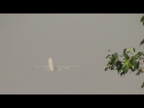 Cathay Pacific Cargo Boeing 747 on Taxiways & Takeoff From Mumbai Airport