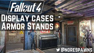 Fallout 4 Contraptions - Display Cases & Armor Stands