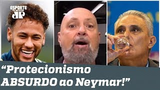 """Narrador DESABAFA a Tite: """"pare de ser REFÉM do Neymar!"""""""