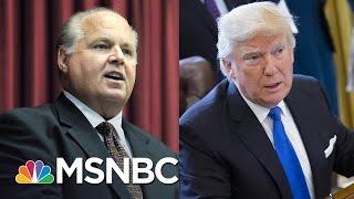 Rush Limbaugh Slams Donald Trump For