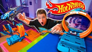 $10,000 HOT WHEELS TRACK CHALLENGE! Hot Wheels Box Fort Obstacle Course