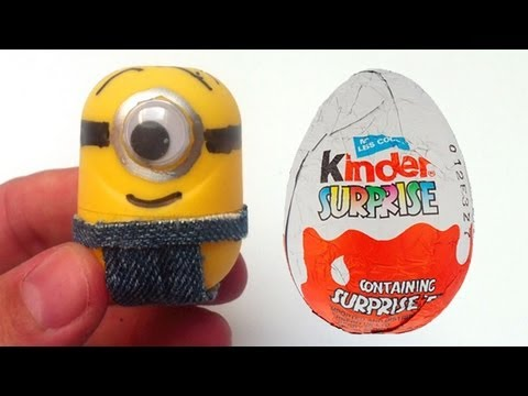 How to make Minions from Kinder Surprise eggs Despicable unboxingsurpriseegg
