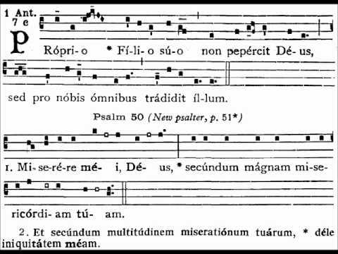 Gregorian Chant - Proprio Filio