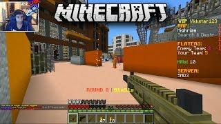 Minecraft SEARCH & DESTROY #1 with Vikkstar, Mitch & Ryan