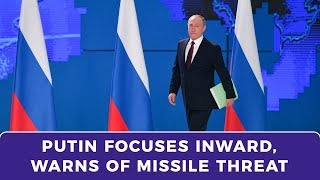 Putin speech focuses on domestic issues as media pushes missile warning