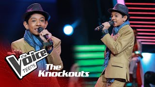 Oshadha Perera | Vinoda Wenna  Knockouts | The Voice Teens Sri Lanka
