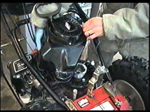 HOW TO REPAIR Riveted Pull Start on Briggs & Stratton Snowblower Engine PART 2/2