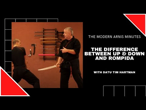Modern Arnis Minute Episode #12  Up & Down vs Rompida