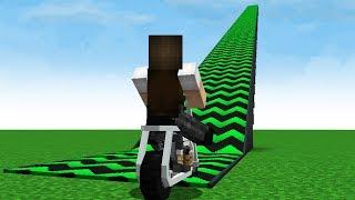 Minecraft: EU SUBI DE MOTO A MAIOR RAMPA DO MUNDO E PULEI DELA!