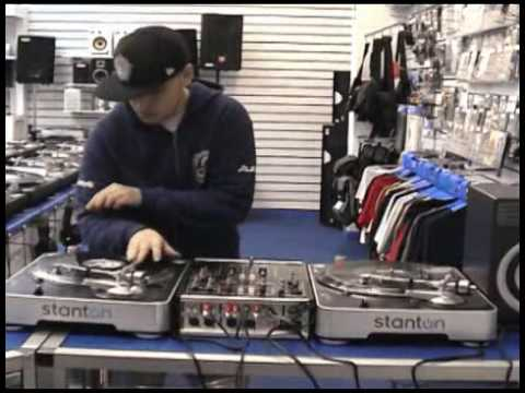 Stanton T60s Scratching and Mixing Demo