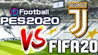 PES 2020 vs FIFA 20 : Juventus x Piemonte Calcio le match ! GAMEPLAY 🇫🇷