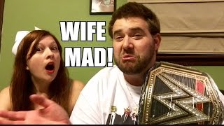 Heel Wife RAGES over WWE REPLICA BELT and Wrestling Figures UNBOXING
