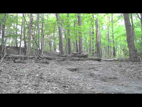 logover at Gloucester County College mountain bike trail