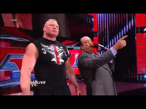 "WWE ""Steal Cage"" Triple H and Brock Lesnar (Face To Face) Raw, May 13, 2013 - HD"
