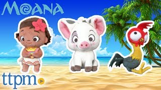 Moana, Hei Hei, and Pua Plush Dolls from Just Play