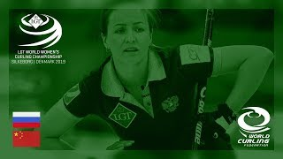 Russia v China round robin LGT World Women's Curling Championships 2019