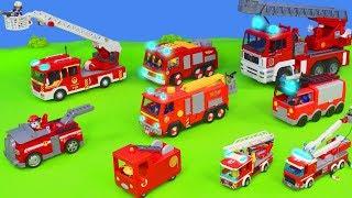 Feuerwehrautos Unboxing: Feuerwehrmann Sam, Paw Patrol, Peppa Pig & Lego Spielzeugautos für Kinder