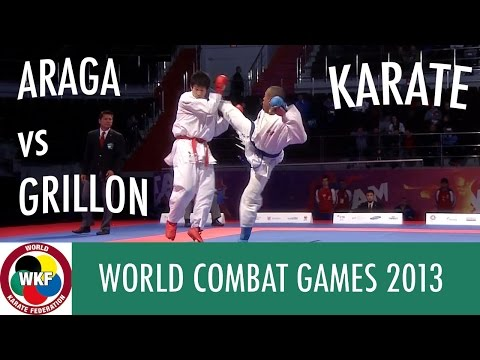 Karate Men's Kumite -84kg. ARAGA vs GRILLON. World Combat Games 2013