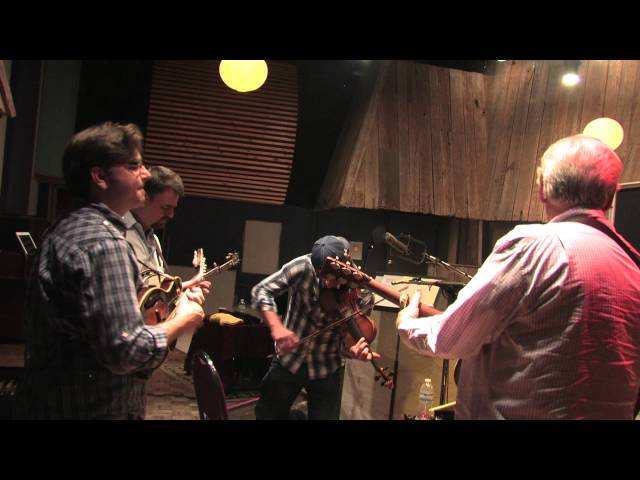 Del McCoury Behind the Scenes recording Old Memories: The Songs of Bill Monroe
