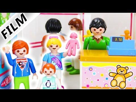 Playmobil Film Deutsch - STREIT IM SPIELZEUGLADEN! JULIAN & HANNAH VERTEIDIGEN EMMA! Familie Vogel