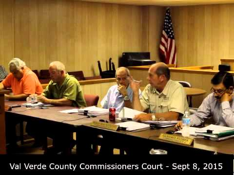 Sept. 8, 2015 Val Verde Commissioners Court