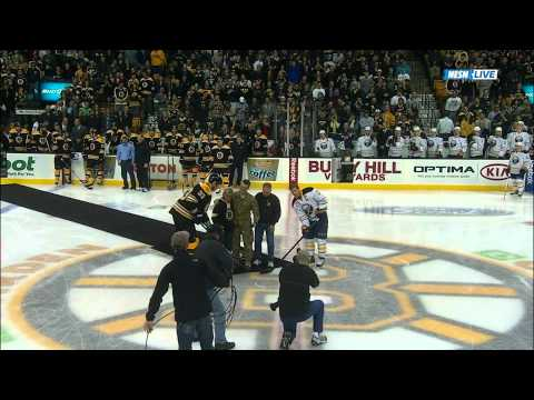 Bruins Surprise Parents With Son Home From Afghanistan 11/12/11 (video)