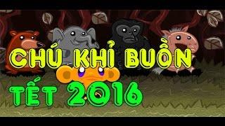 Game chú khỉ buồn Tết 2016 - hướng dẫn chơi game 24h