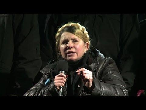 Tymoshenko calls on Ukraine protesters to keep up the fight
