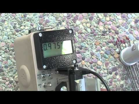 Measurements from my Ludlum 2241-2 Radiation meter