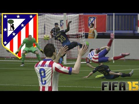 Temporadas Online | FIFA 15 Gameplay en PS4 - jugamos con el Atletico de Madrid Partidazo de Infarto