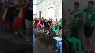 Belgian Fans Help Little Girl at Train Station With a Conga Line