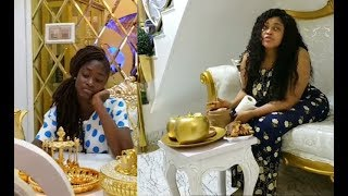 OMG! See The Inside Of Yoruba actress Biodun Okeowo aka Omoborty Mansion,Meet Her Daughter