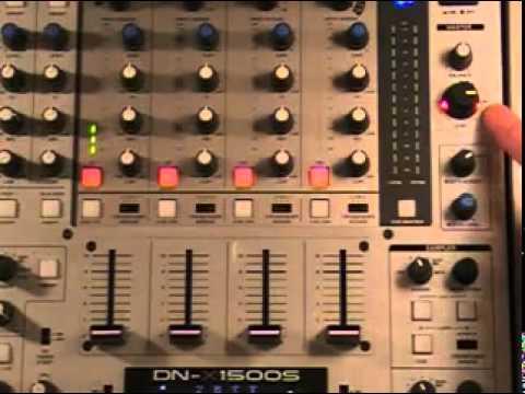 DJ Mixers - DJ Mixer Settings - Main, Gain, PFL lights & Faders.