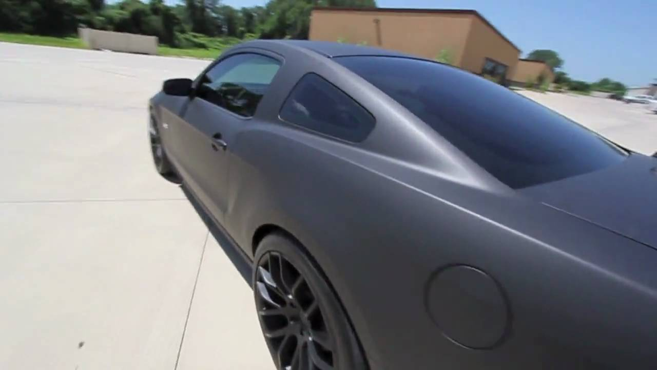 2011 Mustang Gt 5 0 Flat Black Vehicle Wrap Youtube